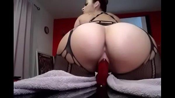 Creamy Pussy Riding Dildo